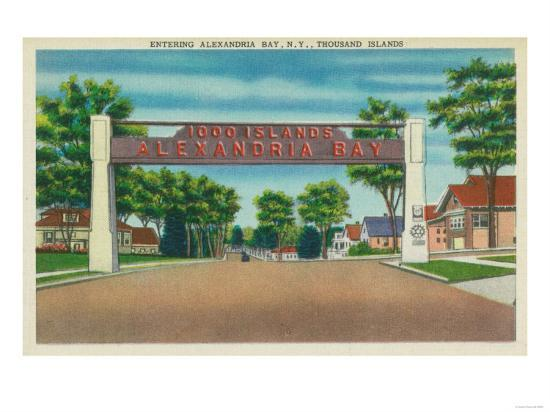 Thousand Islands, New York - Entrance to Alexandria Bay View-Lantern Press-Art Print