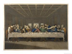 Jesus' Last Supper with His Disciples by Thouvenin