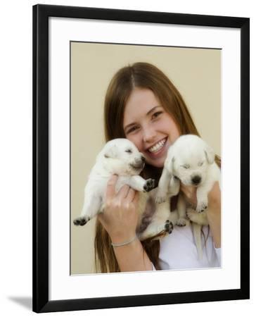 THPpuppy-E6J0603c-Tanya Hovey-Framed Photographic Print