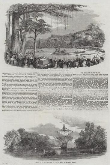 Threatened War on the Gold Coast, with the Ashantees, and Execution of Assin Chiefs--Giclee Print