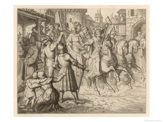 Threatened with Excommunication by the Pope Luther Travels to Worms-Gustav Konig-Giclee Print
