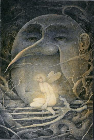 "Threatening Humpty Dumpty and Fairy. ""If You Go Down to the Woods Today...""-Wayne Anderson-Giclee Print"