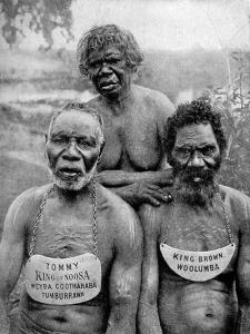Three Aborigines from the Coast Tribes Above Brisbane, Australia, 1922