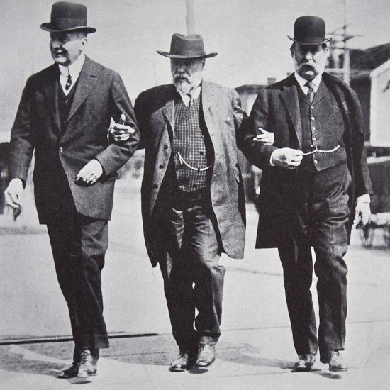 Three American businessmen, 1900s-Unknown-Photographic Print