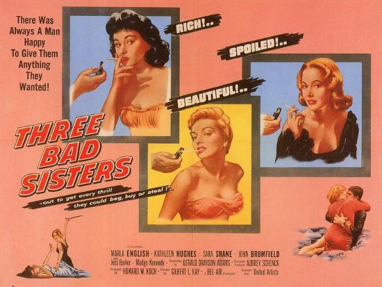 Three Bad Sisters, 1955--Art Print
