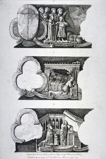 Three Bas-Reliefs in Edward the Confessor's Chapel, Westminster Abbey, London, 1782--Giclee Print