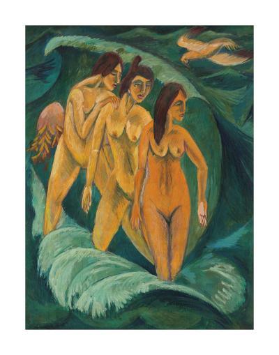 Three Bathers, 1913-Ernst Ludwig Kirchner-Premium Giclee Print