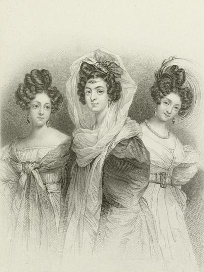 Three Beauties-Henri Grevedon-Giclee Print