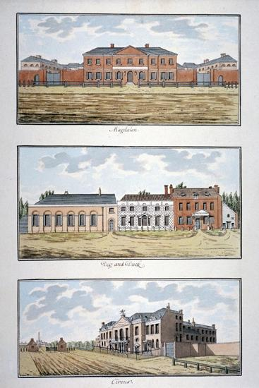 Three Buildings in St George's Fields, Southwark, London, C1790-Thomas Trotter-Giclee Print