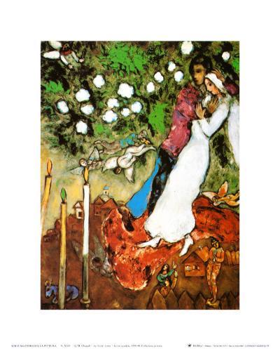 Three Candles-Marc Chagall-Art Print