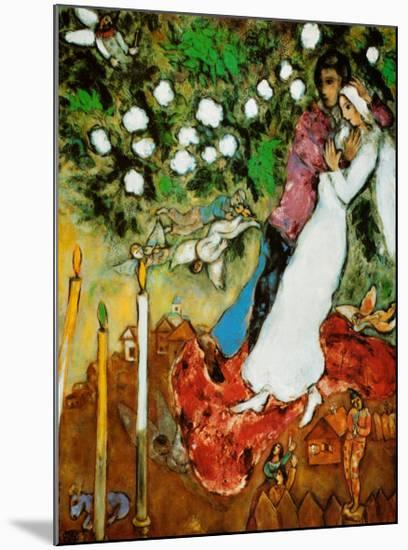 Three Candles-Marc Chagall-Mounted Print