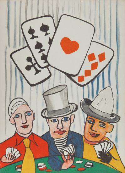 Three Card Players-Alexander Calder-Collectable Print
