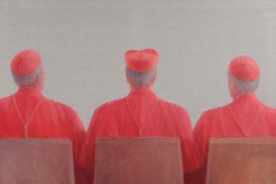 Three Cardinals II, 2012-Lincoln Seligman-Giclee Print