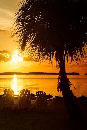 Three Chairs at Sunset - Florida-Philippe Hugonnard-Photographic Print
