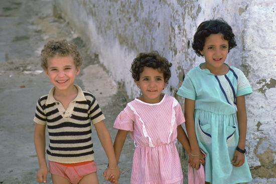 Three children in Kairouan, Tunisia. Artist: Unknown-Unknown-Photographic Print