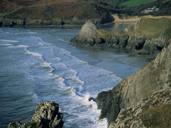 Three Cliffs Bay, Gower Peninsula, Glamorgan, Wales, United Kingdom-Jean Brooks-Photographic Print