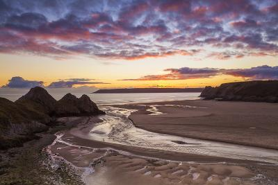 Three Cliffs Bay, Gower, Wales, United Kingdom, Europe-Billy-Photographic Print
