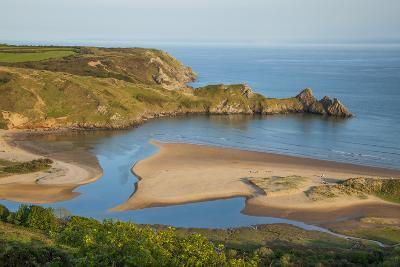Three Cliffs Bay, Gower, Wales, United Kingdom, Europe-Billy Stock-Photographic Print