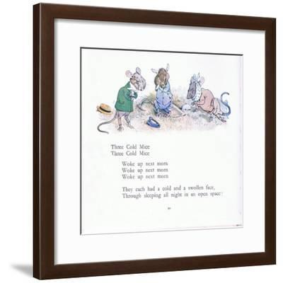 Three Cold Mice, Three Cold Mice, Wake Up Next Morn-Walton Corbould-Framed Giclee Print