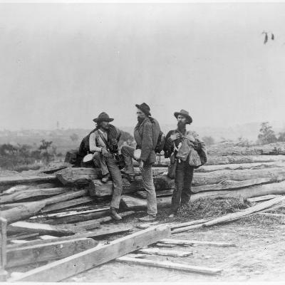 Three Confederate Prisoners, Gettysburg, Pennsylvania--Photographic Print