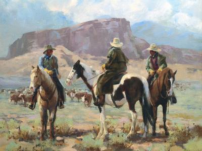Three Cowboys-Carolyne Hawley-Art Print