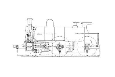 Three-cylinder Compound Steam Locomotive-Mark Sykes-Giclee Print