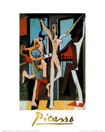 Three Dancers, c.1925-Pablo Picasso-Art Print