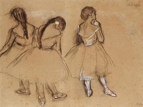 Three Dancers-Edgar Degas-Premium Giclee Print