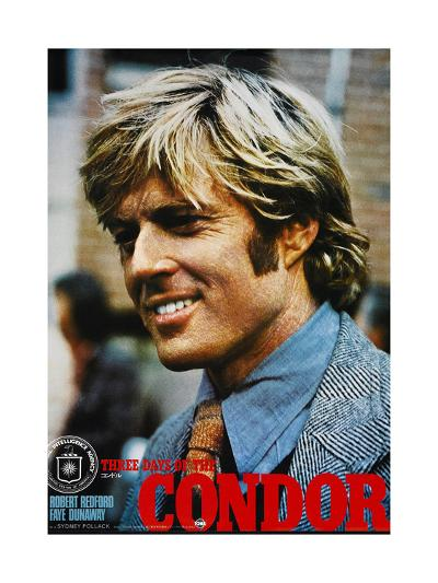 THREE DAYS OF THE CONDOR, Japanese poster, Robert Redford, 1975--Art Print