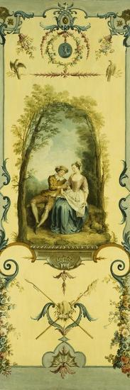 Three Decorative Panels with Allegories of Winter, Summer and Autumn-Nicolas Lancret-Giclee Print