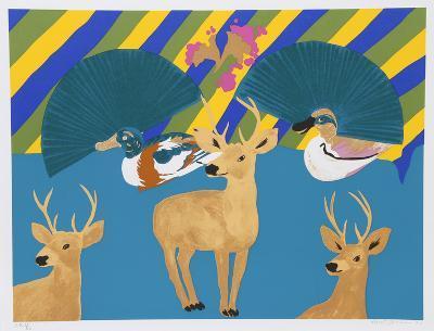 Three Deer-Hunt Slonem-Serigraph