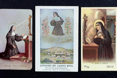 Three Depictions of St. Rita of Cascia--Giclee Print