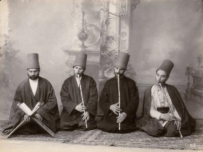 Three Dervish Musicians and a Singer, Turkey, c.1890--Photographic Print