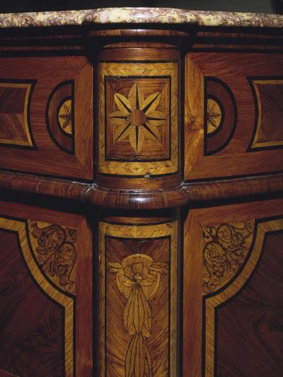 Three Drawer Commode with Rosewood and Kingwood Veneer Finish, 1770-1780, Italy, Detail--Giclee Print