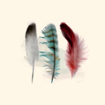 Three Feather Study 1-Evangeline Taylor-Art Print