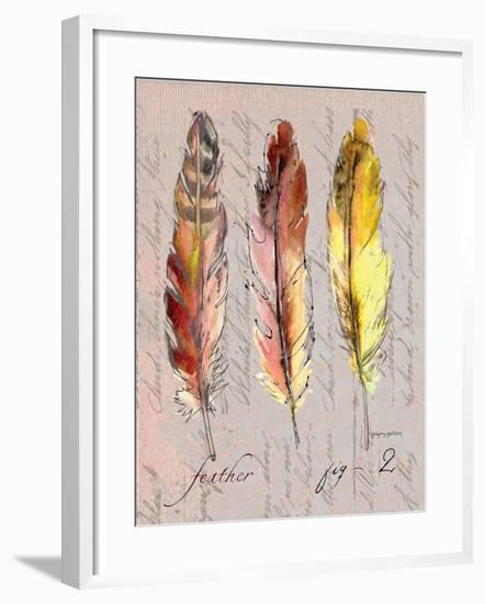 Three Feathers II-Gregory Gorham-Framed Art Print