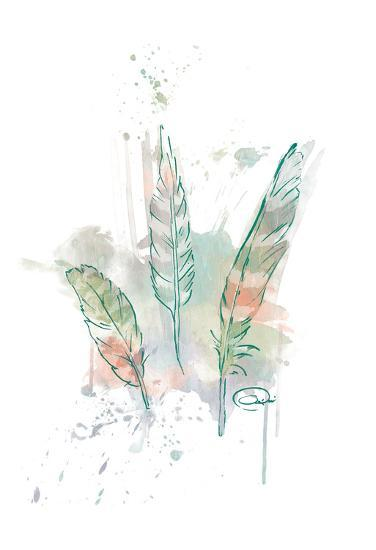 Three Feathers Wild-OnRei-Art Print