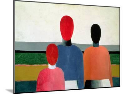 Three Female Figures, 1928-32-Kasimir Malevich-Mounted Print