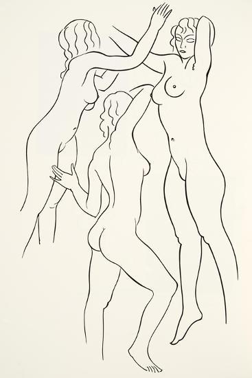 Three Female Nudes, 1938-Eric Gill-Giclee Print