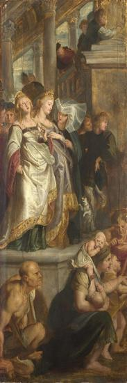 Three Female Witnesses. Sketch for High Altarpiece, St Bavo, Ghent, 1612-Peter Paul Rubens-Giclee Print