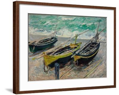 Three Fishing Boats, 1886-Claude Monet-Framed Giclee Print