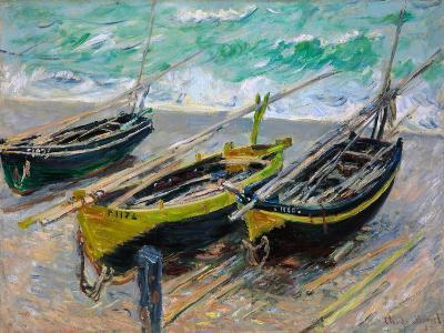 Three Fishing Boats-Claude Monet-Giclee Print