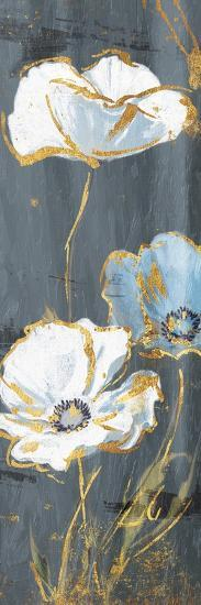 Three Flower Gold Accents-Jace Grey-Art Print