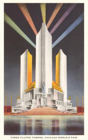 Three Fluted Towers, Chicago World's Fair