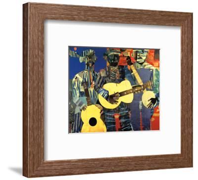 Three Folk Musicians, 1967-Romare Bearden-Framed Art Print