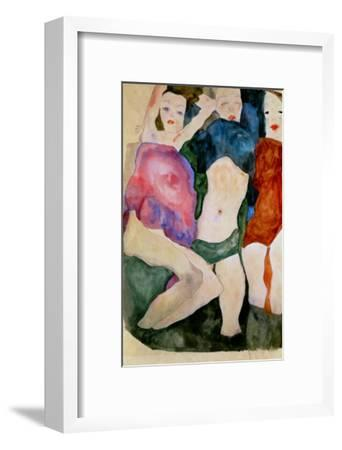 Three Girls-Egon Schiele-Framed Giclee Print