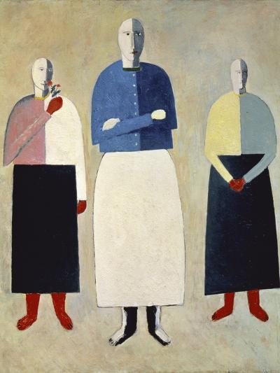 Three Girls-Kasimir Malevich-Giclee Print