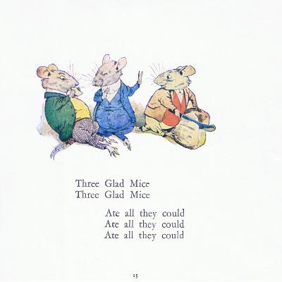 Three Glad Mice, Three Glad Mice, Ate All That They Could-Walton Corbould-Giclee Print