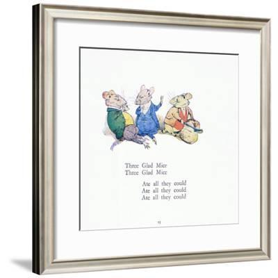 Three Glad Mice, Three Glad Mice, Ate All That They Could-Walton Corbould-Framed Giclee Print