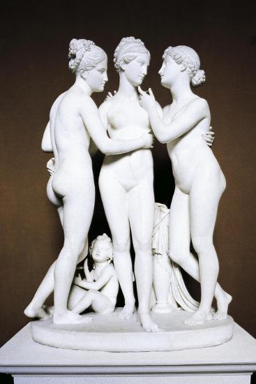Three Graces by Bertel Thorvaldsen, Copenhagen, Denmark--Giclee Print